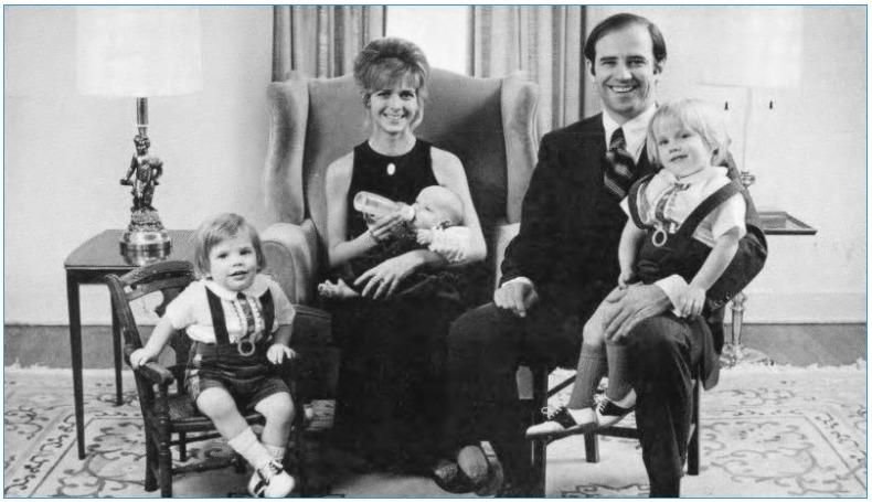 young Joe Biden family in 1972